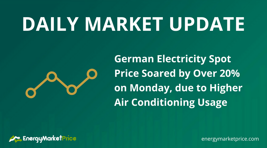 Daily (31.07.2018): German electricity spot price soared ...